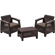 ALLIBERT CORFU WEEKEND Brown - Garden Furniture