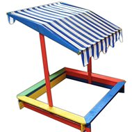 ROJAPLAST Sandbox with Roof - Sandpit