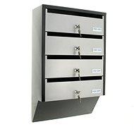 Rottner DEPOT 4 stříbrno/černá - Poštovní schránka