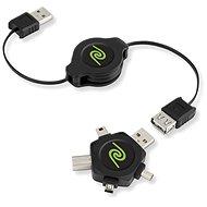 RETRAK computer USB typ A/ USB - Universal hvězda 4in1, 1m - Datový kabel