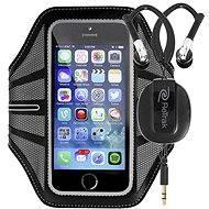 RETRAK Sport Armband Large černé + sportovní sluchátka do uší - Pouzdro na mobilní telefon