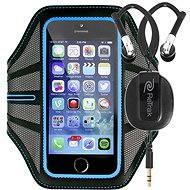 RETRAK Sport Armband Large modré + sportovní sluchátka do uší - Pouzdro na mobilní telefon