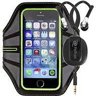 RETRAK Sport Armband Large zelené + sportovní sluchátka do uší - Pouzdro na mobilní telefon