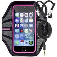 RETRAK Sport Armband Large růžové + sportovní sluchátka do uší - Pouzdro na mobilní telefon