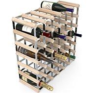 Regál na víno RTA stojan na 42 lahví vína, přírodní borovice - pozinkovaná ocel / rozložený