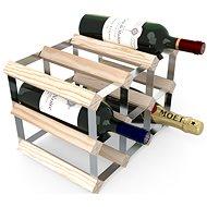 Regál na víno RTA stojan na 9 lahví vína, přírodní borovice - pozinkovaná ocel / rozložený