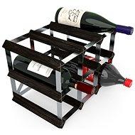 Regál na víno RTA stojan na 9 lahví vína, černý jasan - pozinkovaná ocel / rozložený