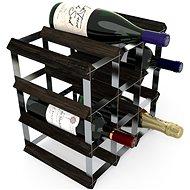 Regál na víno RTA stojan na 12 lahví vína, černý jasan - pozinkovaná ocel / rozložený