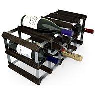 Regál na víno RTA stojan na 15 lahví vína, černý jasan - pozinkovaná ocel / rozložený