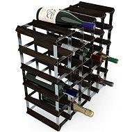 Regál na víno RTA stojan na 30 lahví vína, černý jasan - pozinkovaná ocel / rozložený