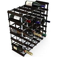 Regál na víno RTA stojan na 42 lahví vína, černý jasan - pozinkovaná ocel / rozložený