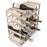 Regál na víno RTA stojan na 30 lahví vína, přírodní borovice - pozinkovaná ocel / rozložený
