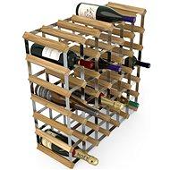 Regál na víno RTA stojan na 42 lahví vína, světlý dub - pozinkovaná ocel / rozložený