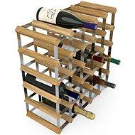 Regál na víno RTA stojan na 30 lahví vína, světlý dub - pozinkovaná ocel / rozložený