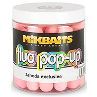 Mikbaits Plovoucí Fluo boilie Jahoda exclusive - Pop-up boilies