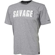 Savage Gear Simply Savage Tee Light Grey Melangé - Tričko