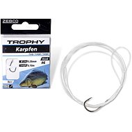 Zebco Trophy Carp Hook-to-Nylon Velikost 4 0,30mm 70cm 8ks