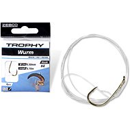 Zebco Trophy Worm Hook-to-Nylon Velikost 6 0,28mm 70cm 8ks