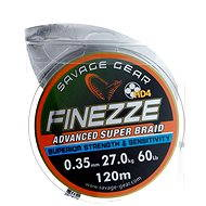 Savage Gear Finezze HD4 Braid 120m 0.35mm 60lbs 27kg Grey - Šňůra