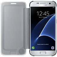 Samsung Clear View Cover EF-ZG930C Galaxy S7 stříbrné - Pouzdro na mobilní telefon