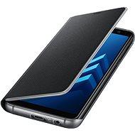 Samsung Neon Flip Cover Galaxy A8 (2018) EF-FA530P Black - Pouzdro na mobilní telefon