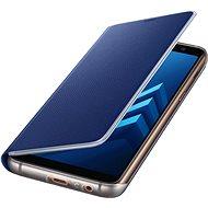 Samsung Neon Flip Cover Galaxy A8 (2018) EF-FA530P Blue - Pouzdro na mobilní telefon