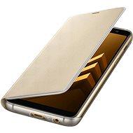 Samsung Neon Flip Cover Galaxy A8 (2018) EF-FA530P Gold - Pouzdro na mobilní telefon