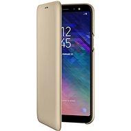 Samsung Galaxy A6+ Wallet Cover zlaté