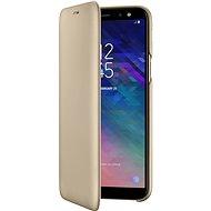 Samsung Galaxy A6 Wallet Cover zlaté - Pouzdro na mobilní telefon