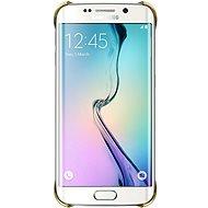 Samsung Clear Cover EF-QG925B Galaxy S6 edge zlatý - Ochranný kryt