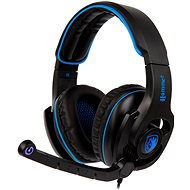 Sades Hammer černá/modrá - Herní sluchátka