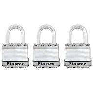 MasterLock Excell M1EURTRI Set 3 ks titanových visacích zámků - Visací zámek
