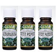 Saloos Lemongrass 10 ml + Saloos Červený pomeranč 10 ml + Saloos Máta peprná  10 ml - Sada esenciálních olejů