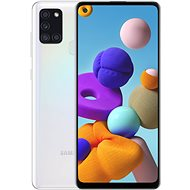Samsung Galaxy A21s 32GB, White - Mobile Phone