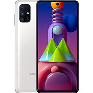 Samsung Galaxy M51 bílá - Mobilní telefon