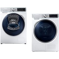 SAMSUNG WW90M740NOA / ZE + SAMSUNG DV90N8287AW / ZE - Washer and dryer set