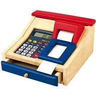 Dětská elektronická pokladna dřevěná - Herní set