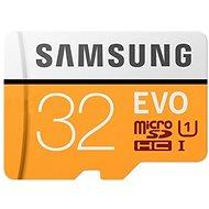 Samsung MicroSDHC 32GB EVO UHS-I U1 + SD adaptér - Paměťová karta