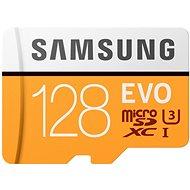 Samsung MicroSDXC 128GB EVO UHS-I U3 + SD adaptér - Paměťová karta