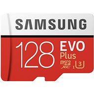 Samsung MicroSDXC 128GB EVO Plus UHS-I U3 + SD adaptér - Paměťová karta