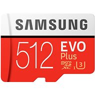 Samsung MicroSDXC 512GB EVO Plus UHS-I U3 + SD Adapter - Memory Card
