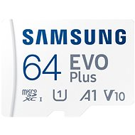 Samsung MicroSDXC 64GB EVO Plus + SD adaptér