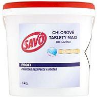 SAVO Do bazénu Maxi tablety chlorové 5kg - Bazénová chemie