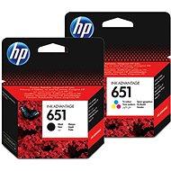 HP č. 651 černá+barevná