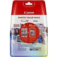 Canon CLI-521 multipack + fotopapír PP-201 - Cartridge