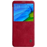 Nillkin Qin S-View pro Xiaomi Redmi Note 5 Red - Pouzdro na mobilní telefon