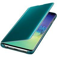 Samsung Galaxy S10 Clear View Cover zelený - Pouzdro na mobilní telefon