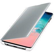 Samsung Galaxy S10+ Clear View Cover bílý - Pouzdro na mobil