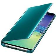 Samsung Galaxy S10+ Clear View Cover zelený - Pouzdro na mobilní telefon