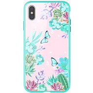 Nillkin Floral Hard Case pro Apple iPhone XS Max green - Kryt na mobil